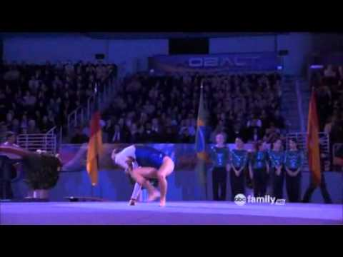 Make it or Break it Kaylie floor routine - YouTube