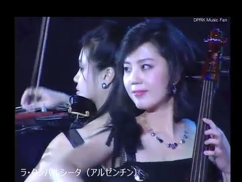 モランボン楽団  世界名曲メドレー  Moranbong band -  World famous song medley - YouTube